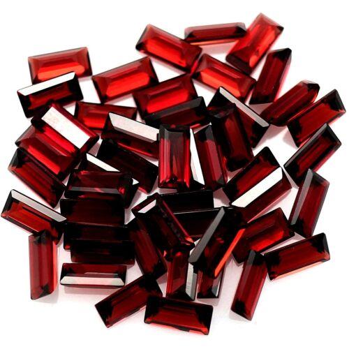 Wholesale Lot 10x5mm Baguette Cut Natural Mozambique Garnet Loose Calibrated Gem