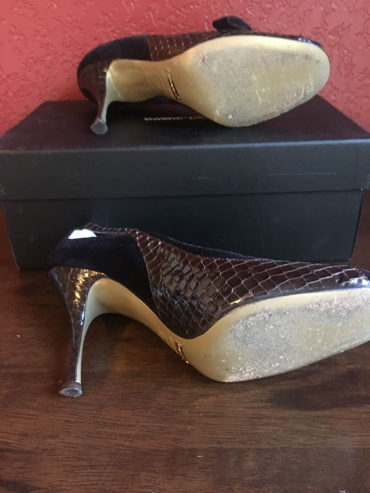 Dolce Gabbana Damens Schuhes 38-1/2 Skin/suede Braun Snake Skin/suede 38-1/2 5aeb10