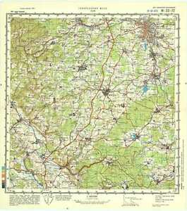 Topographical Map Of Germany.Russian Soviet Military Topographic Maps Hof Germany 1 100 000