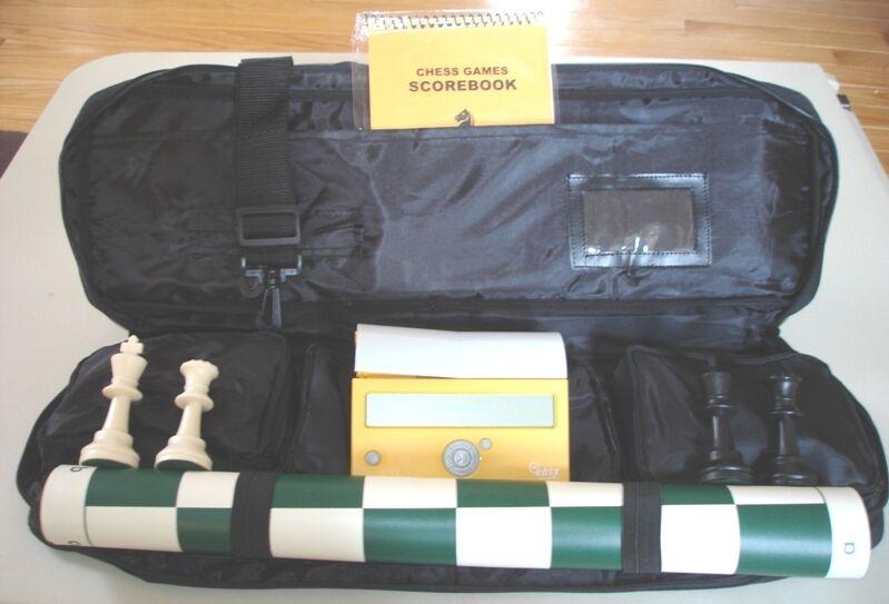 Tournament chess set pieces vinyle Board Sac DGT Easy Minuterie Numérique Horloge