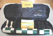 "CHESS SET 4/"" XXXX HEAVY PIECES BOARD BAG DGT EASY CLOCK"