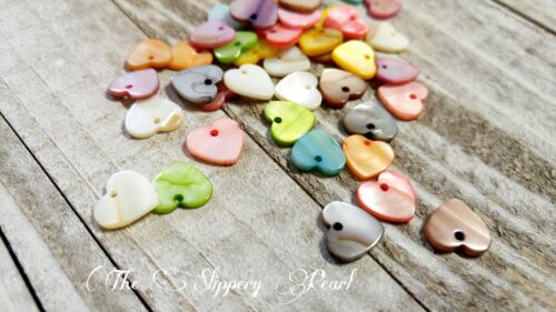 10 Heart Charms Shell Charms Assorted Charms Set Valentines Charms