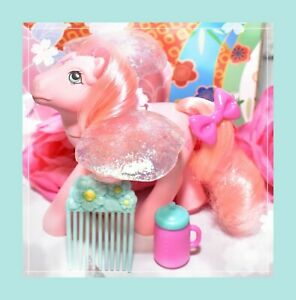 My-Little-Pony-MLP-G1-Vintage-FLUTTER-PONY-Honeysuckle-with-Wings-amp-Comb