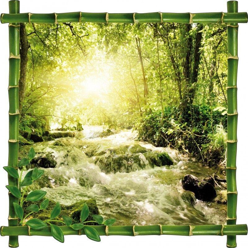 Adesivo cornice bambù bambù bambù rivierebambou fiume a1dcfe