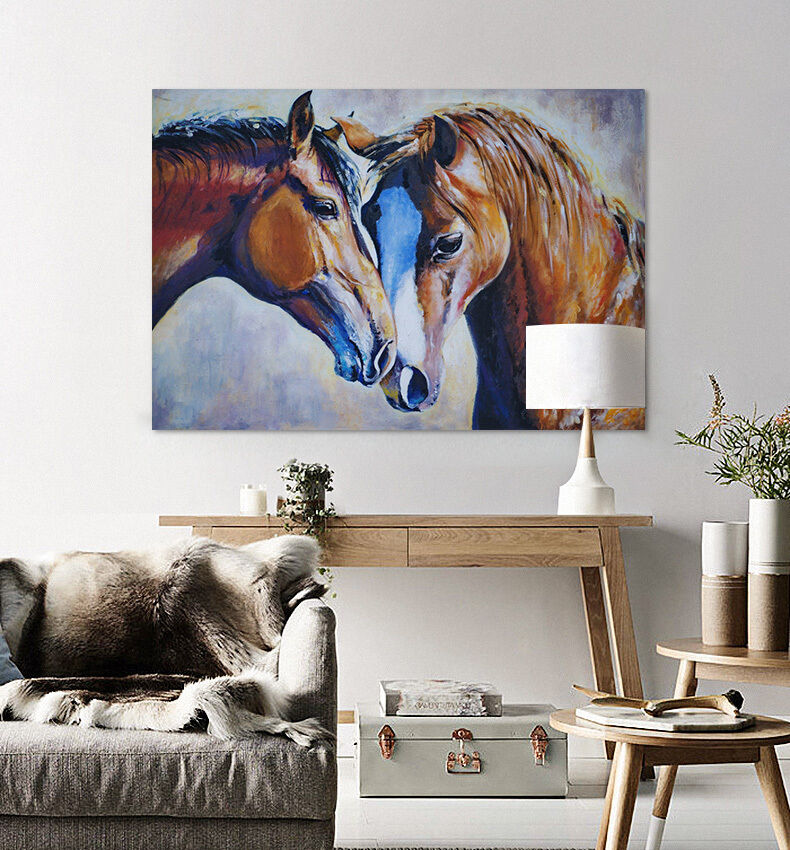 3D Zwei Pferde 26 Fototapeten Wandbild Fototapete BildTapete Familie AJSTORE DE
