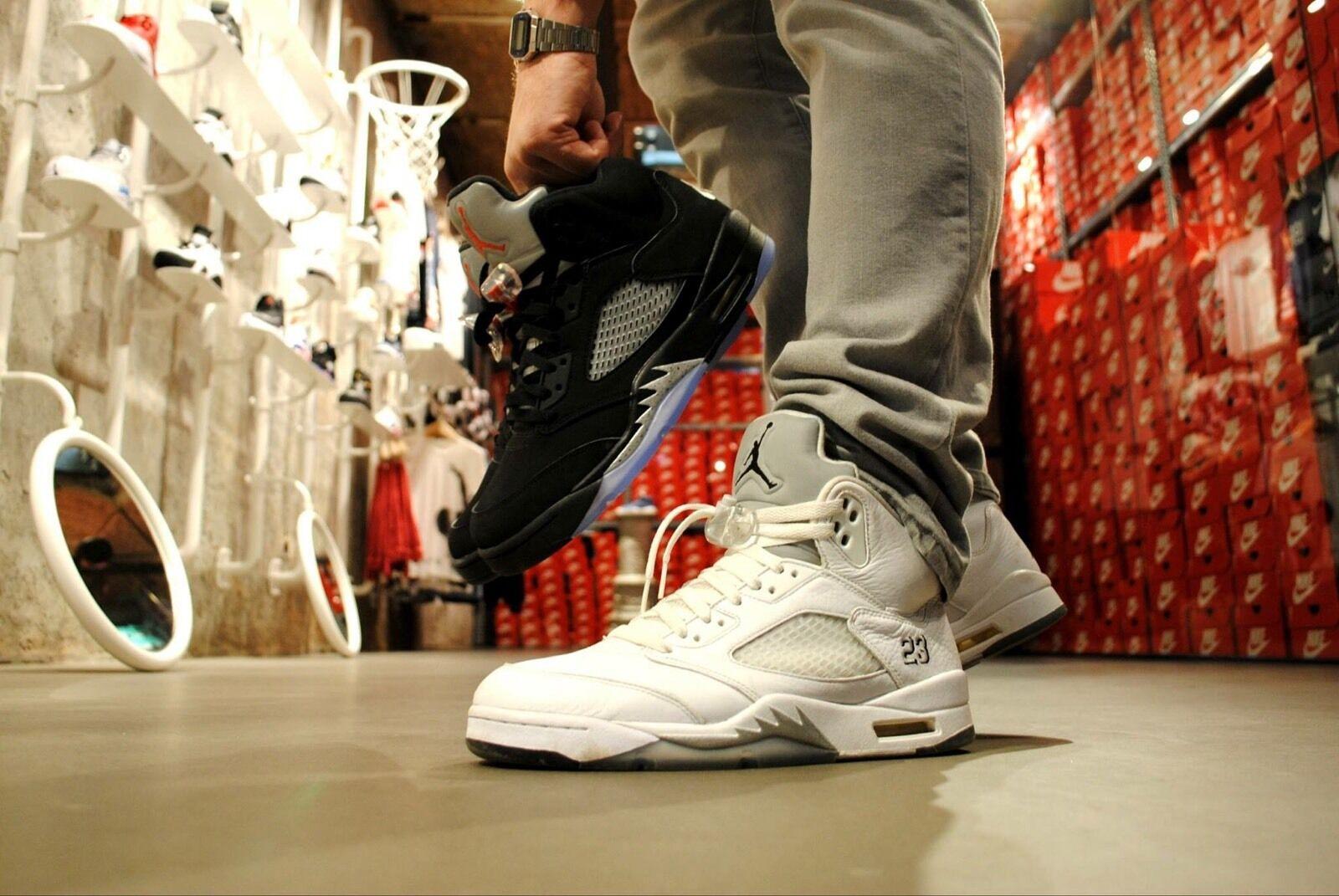Air Jordan 5 Retro bianca Pure Deadstock Dimensione Dimensione Dimensione 10; 11,5(44; 45,5) 579ed1