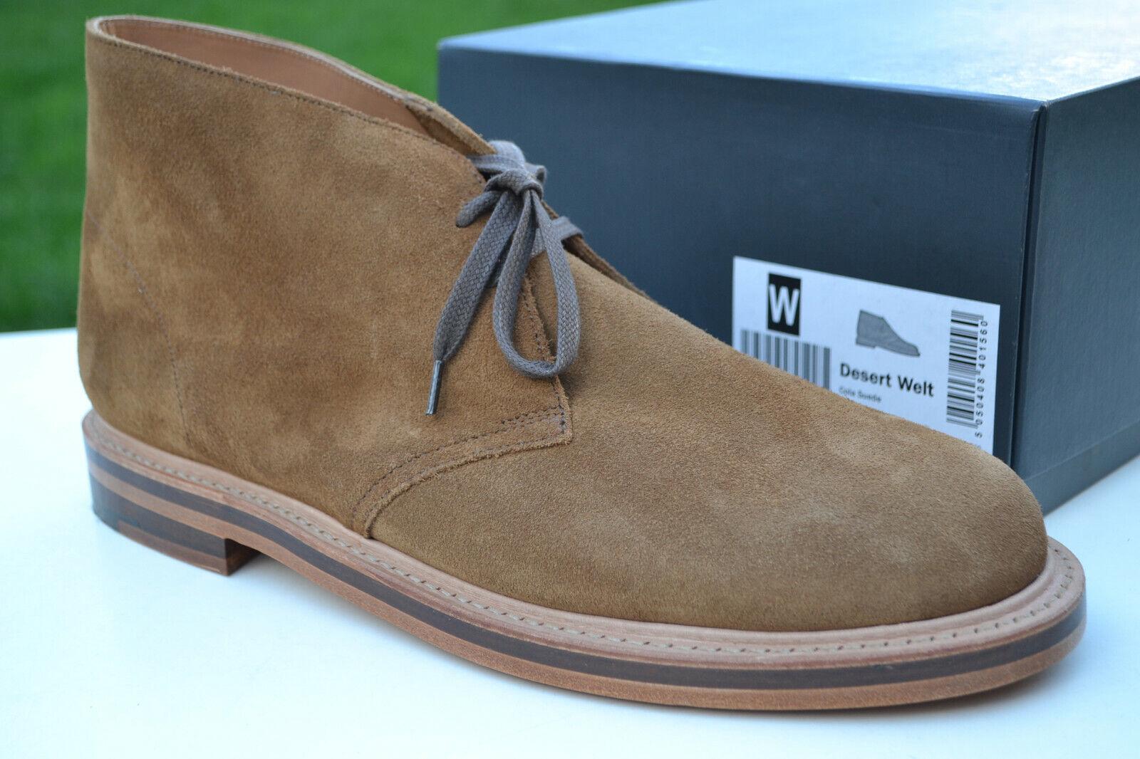 Clarks Originals BNIB Mens Boots DESERT WELT Cola UK 6 Made in England RRP