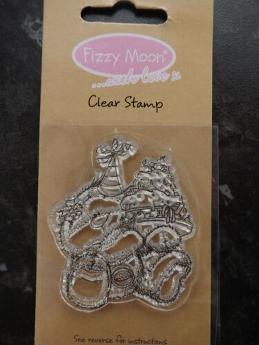 Party hat and Cake Fizzy Moon..with Love by Trimcraft  Clear Stamp