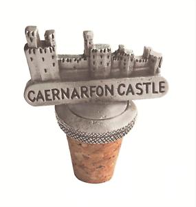 Caernarfon Castle Wales Cork /& Pewter Wine Or Spirit Bottle Stopper