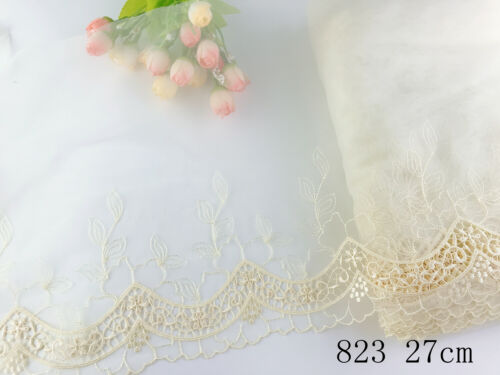 1 Yard Delicate  Embroidered Flower Tulle Lace trim Wedding//sewing//craft Lace 63