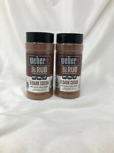 2-Count-Weber-12-75-Oz-Dry-Rub-Spicy-Dark-Cocoa-Great-For-Smoking-amp-Barbecuing