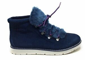 Bobs-From-Skechers-Women-039-s-Bobs-Alpine-Fur-Eva-Ankle-Boots-Navy-Size-9-M-US