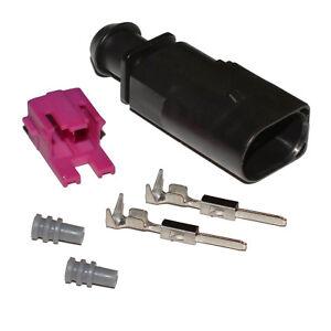 Stecker-2-polig-Reparatursatz-fuer-VW-1J0973802-Skoda-Seat-maennlich-Crimp-Kontakt