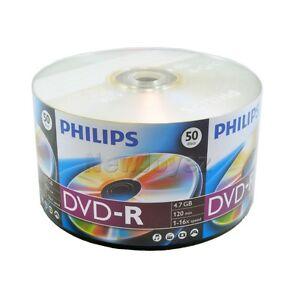 100-pk-PHILIPS-Brand-Logo-16X-Blank-DVD-R-DVDR-Disc-Storage-Media-4-7-GB-120-min