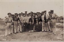 Soldier group 1st Kent Battery ? Royal Field Artillery RFA Larkhill Camp 1913