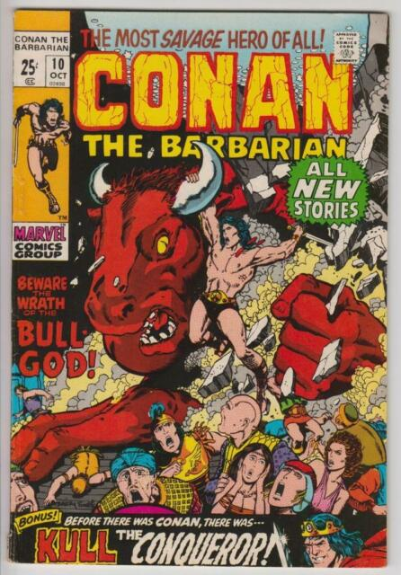 Conan The Barbarian #10 Barry Smith Marvel Comics 1971 Fine+ 6.5