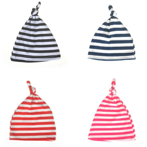 Newborn Baby Boys Girls Beanie Knotted Cotton Hat Soft Cap Infant Toddle Hat P0