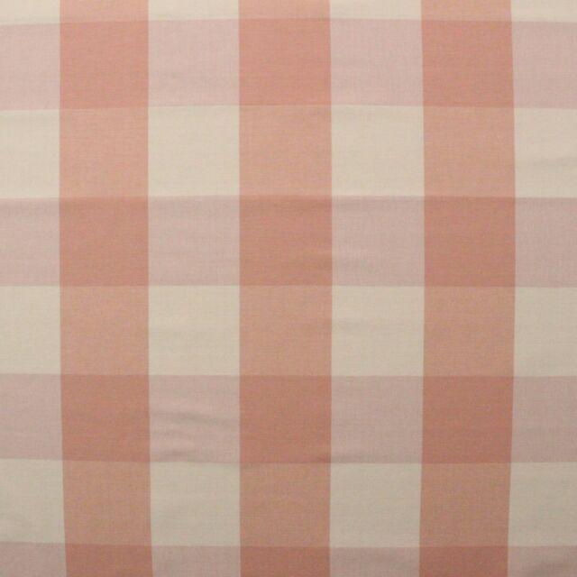 Ballard Designs Buffalo Check Blush Pink Cream Checker Multiuse Fabric By Yard