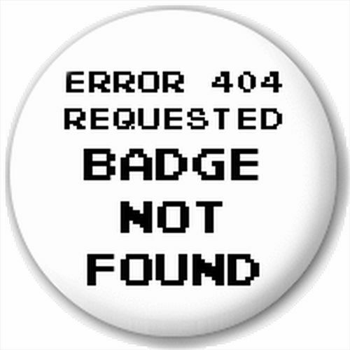 Small 25mm Lapel Pin Button Badge Novelty Error Message It Worker