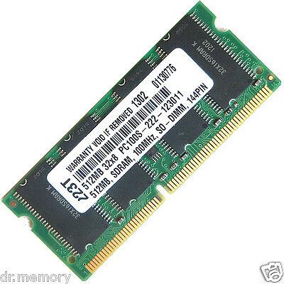 512MB (1x512MB) PC100 100MHz  Laptop (SODIMM) Memory RAM KIT 144-pin CL2