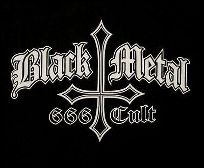 BLACK METAL 666 CULT INVERTED CROSS SHIRT Size MED new
