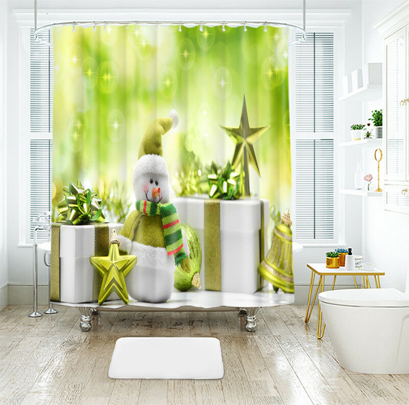 3D Christmas  Xmas 927 Shower Curtain Waterproof Fiber Bathroom Windows Toilet