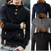 Stylish Men's Slim Warm Hooded Sweatshirt Hoodie Coat Jacket Outwear Sweater