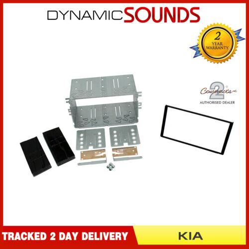 CT23KI03 Double Din Car Fascia Fitting Kit Black For KIA Sorento 2006-2010