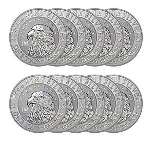 1 Oz Jm Bullion Eagle Silver Round New Reverse Proof