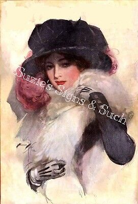 Harrison Fisher Fabric Block Victorian Edwardian Ladies World 1913