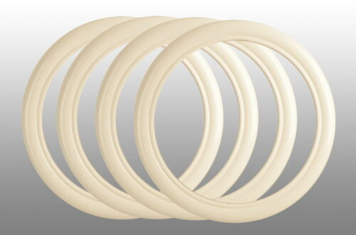 "4x blanco muro anillos 14/"" pulgadas autorización mercedes benz Oldtimer Ponton blanco neumáticos de muro"
