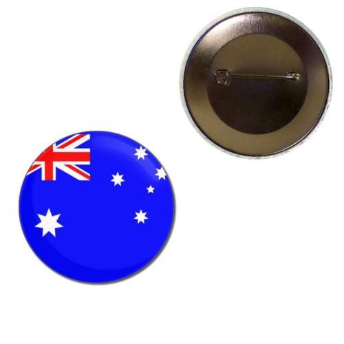 Australia Flag Choice 25mm//55mm//77mm Novelty Fun BadgeBeast Button Badge