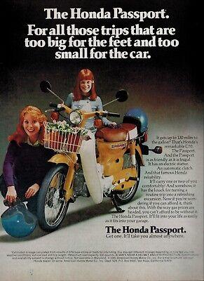 "1980 Honda Passport C 70 Scooter Original Print Ad 8.5 x 11/"""