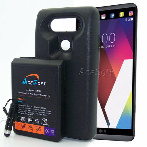 new style 0c902 14b20 Up to 3X Extra Battery Power Extended 10900mAh Battery Back Case for LG V20  H910