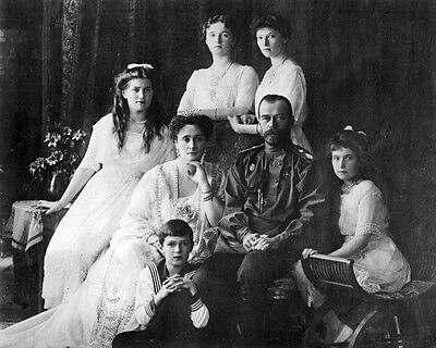 Tsar Nicholas II with son Tsarevich Alexei in Captivity New 8x10 Photo 1917