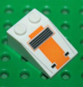 Lego-Star-Wars-White-Slope-Brick-ref-3298pb050-Set-75074-75009-66533
