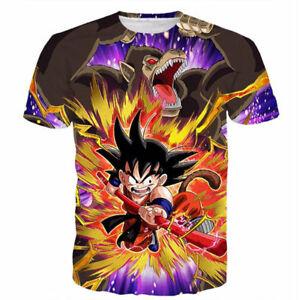 Women Men Casual Short Sleeve Tops Tee Anime Dragon Ball Goku Print 3D T-Shirts