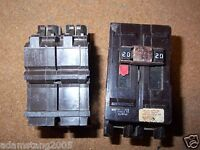 WADSWORTH 2 Pole 20 Amp Circuit Breaker large Style chipped