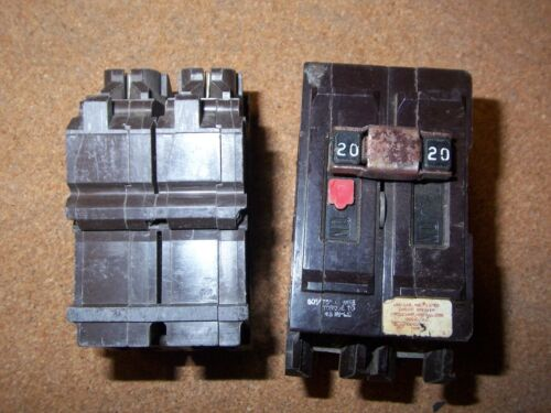 WADSWORTH  2 Pole 20 Amps Circuit Breaker Type A