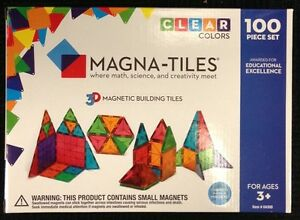 Image Is Loading Magna Tiles 100 Piece Clear Colors Building