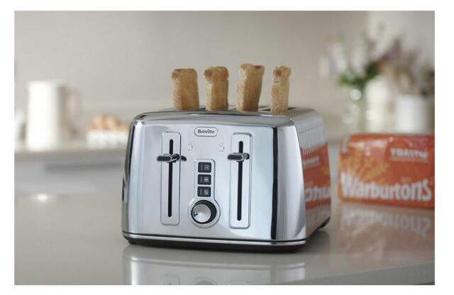 Breville VTT571 Warburtons 4 Slice Toaster Perfect Fit for Warburtons Toastie