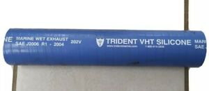 """Trident 202V2140-36 Marine 2 1/4"""" x 13"""" Silicone Wet Exhaust Water Hose"""