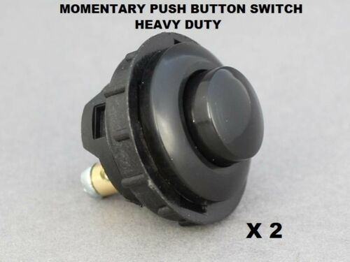 2 X Momentary Button Switch Heavy Duty Push ON 16A-12V Vandal Proof 26mm Hole