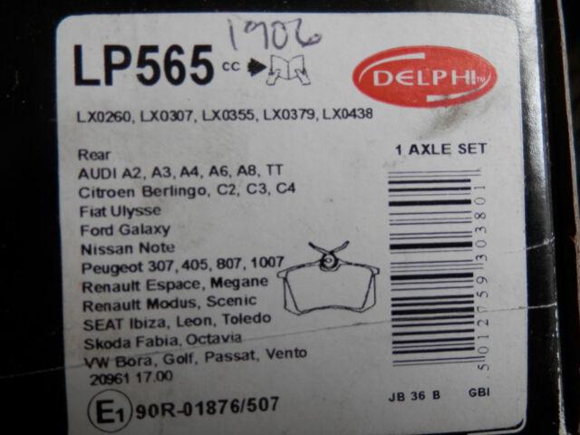 LP565 REAR BRAKE PADS test