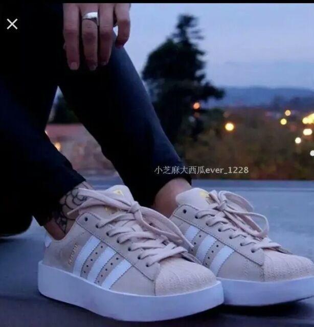 New adidas Original Superstar Bold CG2886 Women's Shoes size 8.5 US beige white