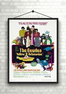 The-Beatles-Yellow-Submarine-Vintage-Movie-Poster-Art-Print-Maxi-A1-A2-A3-A4