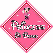 Disney Princess On Board Car Sign – Baby On Board Car Sign – Minnie Mouse