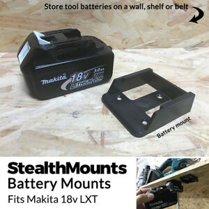 5x BLACK Battery Mounts for Makita 18v LXT Li Ion Batteries Holders Wall Hanger