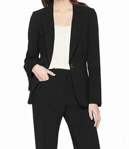 Tahari By ASL Womens Blazer Black Size 2 One-Button Bell-Sleeve $129- 601