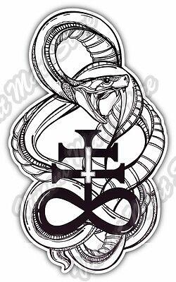 Leviathan Cross Vinyl Stickers Decals Laptop Car Window Optional Satanic Satan Ebay
